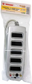 Фото 1/2 17-1135, Адаптер SCART Plug - 5 x SCART socket + 3RCA jack + S-VHS jack W/switch