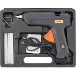 93034, Клеевой пистолет с выкл. 12 мм в кейсе, 100 Вт, 8 г/мин