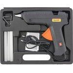 93033, Клеевой пистолет с выкл. 12 мм в кейсе, 80 Вт, 6 г/мин