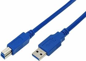 Фото 1/3 18-1606, Шнур USB-B 3.0 штекер - USB-A 3.0 гнездо, длина 3 метра (PE пакет)