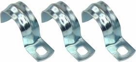 Фото 1/2 28-1021, 25 скобка (100 шт/уп) для металлорукава 20 (двухлапковая)