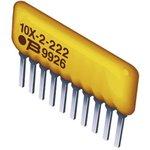 Фото 2/2 4604X-102-222LF, Фиксированный резистор цепи, 2.2 кОм, 4600X Series, 2 элемент(-ов), Изолированный, SIP