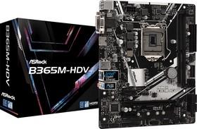 Фото 1/5 B365M-HDV, Плата материнская Asrock Asrock B365M-HDV, LGA1151, Intel B365, mATX, BOX