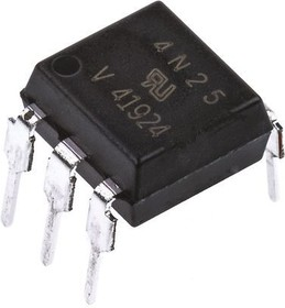 4N25, OPTOCOUPLER DC-IN 1-CH TRANS W