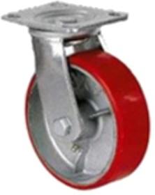 Колесо d=200/50мм, чугун/полиуретан, поворотное, игольчатый подшипн. г/п=460 кг 1043-200