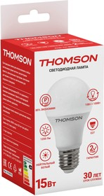 Фото 1/2 TH-B2010, Лампа светодиодная Hiper THOMSON LED A60 15W 1250Lm E27 4000K TH-B2010