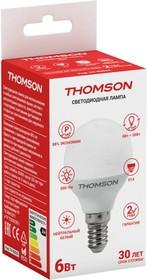Фото 1/2 TH-B2032, Лампа светодиодная Hiper THOMSON LED GLOBE 6W 500Lm E14 4000K TH-B2032