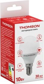 Фото 1/2 TH-B2036, Лампа светодиодная Hiper THOMSON LED GLOBE 10W 830Lm E14 4000K TH-B2036