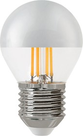 TH-B2376, Лампа светодиодная Hiper THOMSON LED FILAMENT P45 4W 400Lm Е27 4500K silver