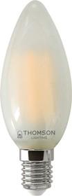 TH-B2344, Лампа светодиодная Hiper THOMSON LED FILAMENT CANDLE 7W 715Lm E14 6500K FROSTED