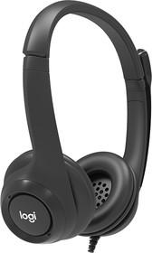 Фото 1/4 991-000267, Наушники Logitech Wired USB headset with Microphone
