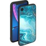 86510, Чехол Deppa Glass Case для Apple XR, голубой