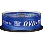 Фото 2/3 Verbatim 43500 DVD+R 4.7 GB 16x CB/25, Записываемый компакт-диск