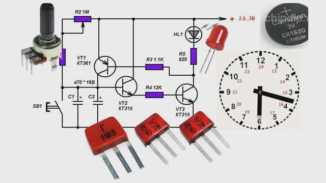Таймер схема на транзисторе