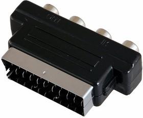 Фото 1/2 17-1061, Переходник SCART - 4гн.RCA