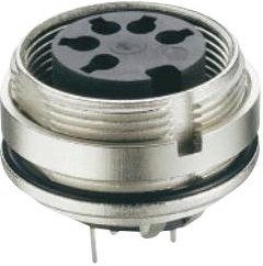 0307 03, CHASSIS SOCKET ACC. TO IEC 61076-2-106, IP 68, WITH THREADED JOINT, FOR PRINTED CIRCUIT BOARDS, FOR