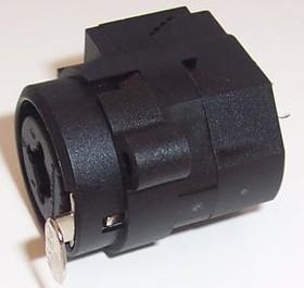 NCJ6FI-V, Аудио разъем XLR, Combi XLR/гнездо, 6 контакт(-ов), Гнездо, Монтаж на Печатную Плату