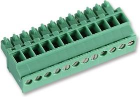 MCVR 1,5/12-ST-3,5, Съемная клеммная колодка, 3.5 мм, 12 вывод(-ов), 28AWG до 16AWG, 1.5 мм², Винт, 8 А