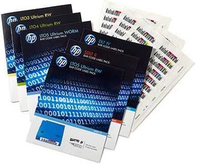 Q2013A, Наклейка HPE HP LTO-6 Ultrium RW Bar Code Label Pack