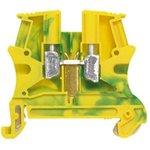 0 371 71, Distribution Block, 4mm², 1 Way, 23A, 800 V, Green, Yellow