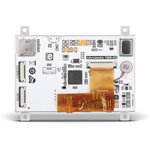"Фото 2/3 MIKROE-2279, mikromedia HMI 4.3"" Res, Встраиваемая HMI панель 480 x 272 px на базе МК FT900Q, резистивная сенсорная панель"