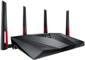 Фото 1/4 RT-AC88U, Маршрутизатор Asus Dual-Band Wireless-AC3100 Gigabit Router with 4 ext antennas, 1 USB 2.0 and 1 USB