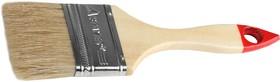 """0101-063, Кисть плоская STAYER """"UNIVERSAL-STANDARD"""", светлая натуральная щетина, деревянная ручка, 63мм"""