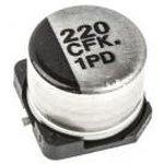 Фото 6/6 ЧИП электролит.конд. 220мкф 16В 105гр, 8x6.2(E),EEEFK1C221P