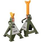 900306 Подставки страховочные с зубчатым механизмом 6 тонн, 382-600 мм, 2 шт