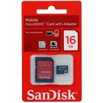 Карта памяти microSDHC SANDISK Mobile 16 ГБ, 4 МБ/с ...