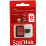 Карта памяти microSDHC SANDISK 8 ГБ, SDSDQM-008G-B35A ...