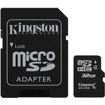 Карта памяти microSDHC KINGSTON 32 ГБ, Class 4, SDC4/32GB ...