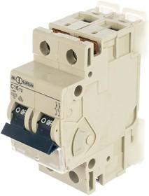 Автоматический выключатель 2P, C, 16 A, 10 кА, 230/400 В AC, серия Т C16T2