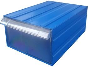 Фото 1/5 Пластиковый короб С-510 синий/прозрачный 260x364x150