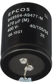 Фото 1/2 ECAP (К50-35), 470 мкФ, 400В, B43504-A9477-M, Конденсатор электролитический алюминиевый
