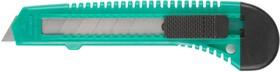 0909, Нож DEXX с сегментированным лезвием, инструментальная сталь Ст60, пластиковый корпус, 18мм