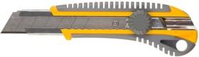"""09141, Нож STAYER """"PROFI"""" механический фиксатор, двухкомпонентный корпус, 25мм"""