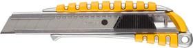 "09143, Нож STAYER ""MASTER"" металлический обрезиненный корпус, автостоп, 18мм"
