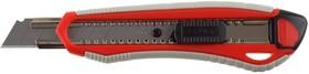 """09157, Нож ЗУБР """"МАСТЕР"""" с сегментированным лезвием, двухкомпонентный корпус, автофиксатор, сталь У8А, 18мм"""