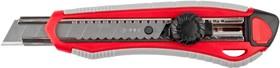 """09158, Нож ЗУБР """"МАСТЕР"""" с сегментированным лезвием, двухкомпонентный корпус, механический фиксатор, сталь"""
