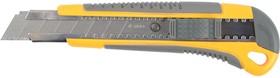 """0916, Нож STAYER """"MASTER"""" с выдвижным сегмент. лезвием, пластмассовый, 18мм"""