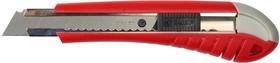 """09163, Нож ЗУБР """"МАСТЕР"""" с выдвижным сегментированным лезвием, сталь У8А, 18мм"""