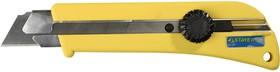 """09173, Нож STAYER """"PROFI"""" с выдвижным сегментированным лезвием, 25мм"""