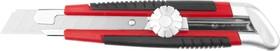 09187, Нож URAGAN с выдвижным сегментированным лезвием, двухкомп корпус, механический фиксатор, инструмента