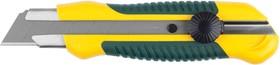 """09198, Нож KRAFTOOL """"EXPERT"""" с сегментированным лезвием, двухкомпонентный корпус, механический фиксатор, 25"""
