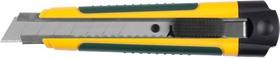 09199, Нож с сегментированным лезвием, KRAFTOOL 09199, двухкомп корпус, автостоп, отсек для хранения запасн