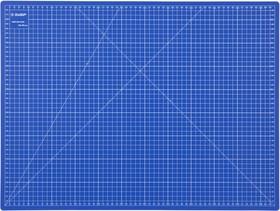 """09901, Коврик ЗУБР """"ЭКСПЕРТ"""", непрорезаемый, 3мм, цвет синий, 600х450 мм"""