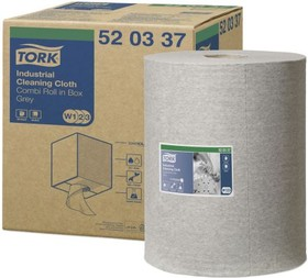 520337, TORK CLEANING CLOTH GREY 1X390