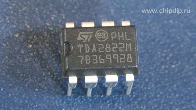 TDA2822M DIP8.  Одним из простых интегральных усилителей, которые могут быть без особых