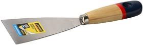 """10012-060, Шпательная лопатка STAYER """"PROFI"""" c нержавеющим полотном, деревянная ручка, 60мм"""